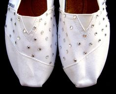 sparkly white toms - A good idea for wedding shoes :)