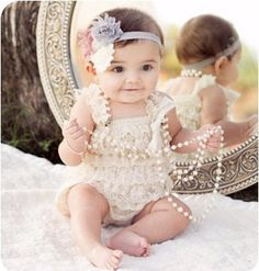 Sweet lace baby romper! In stock: Ships in 48 hours! Click below: for Victoria Dress & Julia Dress