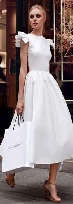 Audrey Inspired, White Dress.