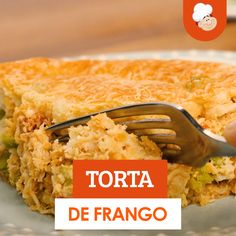 Chicken pie- Torta de frango Chicken pie is the right choice for lunch. Quick and practical this recipe is a wonder. Gourmet Recipes, Cooking Recipes, Healthy Recipes, Tasty, Yummy Food, Clean Eating Snacks, Food Videos, Food Print, Fast Recipes