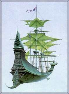 70s Sci-Fi Art: Rodney Matthews' ships.