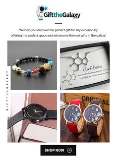 At GiftTheGalaxy.com, we offer the coolest, most unique space jewelry in the galaxy! SHOP NOW to find >> Stone Solar System Bracelet, Caffeine Necklace, Sparkling Night Sky Watch, Moon Phases Watch >> Space Themed Fashion Style Traveler Travelers Travellers I Love Coffee Lovers Caffeine Addicts Quotes Humor Molecule Molecular Crescent Moon Solar Eclipse Gift Ideas for Space Lovers Moon Lovers Outer Space Accessories >> Space Gifts found on GiftTheGalaxy.com Solar System Bracelet, Sky Watch, Space Jewelry, Addiction Quotes, Moon Lovers, Space And Astronomy, I Love Coffee, Solar Eclipse, Coffee Lovers