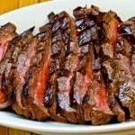 Another Talk Show recipe, this time, a beautiful steak marinated!