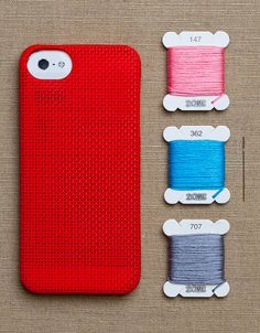 So cute! Getting crafty with your phone. Cross-stitch iphone cases.