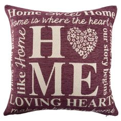 Breath new life into your old furniture for less with B&M's range of cheap cushions. I Love Heart, My Love, Soft Furnishings, Home And Living, Throw Pillows, Pets, Diy, Cover, Bricolage