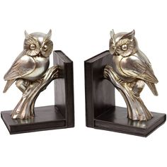2 Piece Owl Bookend Set - would be perfect for those BMC books I still have.