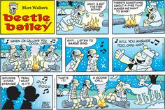 Beetle Bailey Comic Strip for August 2014 Beetle Bailey Comic, Mort Walker, Comic Books Art, Book Art, Kid N Teenagers, Classic Comics, Calvin And Hobbes, Funny Cartoons, Comic Strips