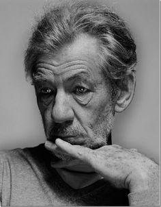 Pensive Stare Expression - Ian McKellen - photo by Nadav Kander • photography -