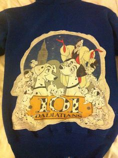 Blue 101 Dalmatian Disney Sweatshirt Hoodie by JarOfCoins on Etsy, $35.00