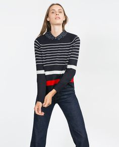 ZARA - NEW IN - MULTI -STRIPED SWEATER