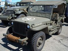 1941-1945: Willys MB/Ford GPW Willys MA jeep at the Desert Training Center, Indio, CA, June 1942.