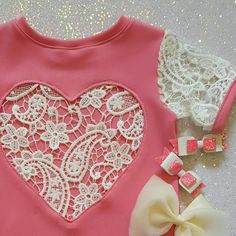 The 'Valentina' lace heart dress in barbie pink by NaidaCrystal