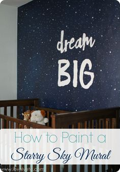 Painting a night sky mural - Lovely Etc.