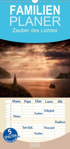 Zauber des Lichtes - Familienplaner hoch - CALVENDO Pinterest Instagram, Toms, Fantasy, Poster, Products, Wall Calendars, Photomontage, Landscape Pictures, Nature