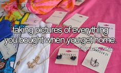 i always do this!!! especially school shopping