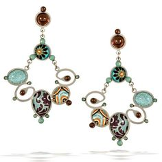 Artazia Mint Splash Earrings in Earth and Pacific Opal Tones E2505 *** See this great product.