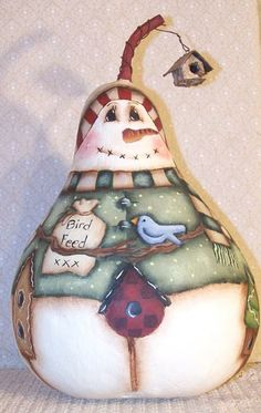 free images to paint on gourds | Snowman Painting Pattern 1 | eBay