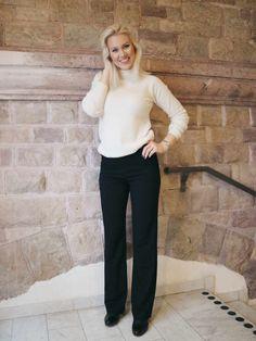 Dress pants with soft polo