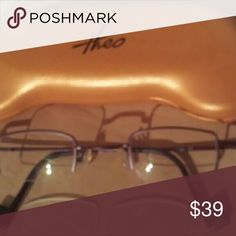 Theo Eyeglass Frames Unisex Deep Red Theo Prescription Eyeglass Frames you can replace the prescriptions with these clear lenses or your own prescription. Also make into sunglasses. I purchased in Las Vegas at a high end frame store for $500. Ask me anything! Accessories Glasses