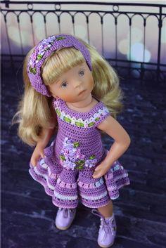 Комплект для кукол Minouche. Сирень. / Одежда для кукол / Шопик. Продать купить куклу / Бэйбики. Куклы фото. Одежда для кукол