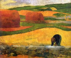 """Algensammler"".  Paul Sérusier (9 November 1864 – 7 October 1927) was a French painter who was a pioneer of abstract art and an inspiration for the avant-garde Nabi movement, Synthetism and Cloisonnism.(Wiki)"
