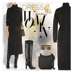 """""""Fall Trend: Long Sleeve Dresses"""" by fatime-style-art ❤ liked on Polyvore featuring Lemaire, Gianvito Rossi, The Row, Chloé, Jennifer Fisher, Sarah Jessica Parker, contest and longsleevedress"""