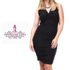 "Plus Black Bodycon Dress Be the best dressed woman in the room with this super soft, brushed microfiber body hugging bodycon dress Jet black, wrapped, lined bodice with ruched & gathered sides Midi length  Avail in PLUS 1X, 2X, 3X, NEW, no tags made to fit snug and hug your curves, seem true to size Approx 45"" long 96% polyester, 4% spandex  ‼️PRICE FIRM UNLESS BUNDLED‼️ Create a bundle for 15% off! Thanks for looking😋✌️❌NO TRADES❌ Hourglass Lady Dresses Midi"
