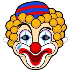 Clown Mask Printable