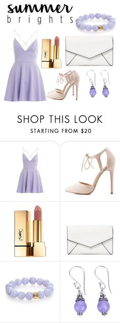 """""""Pastel purple"""" by annalomas ❤ liked on Polyvore featuring AX Paris, Charlotte Russe, Yves Saint Laurent, LULUS, Nest and NOVICA"""