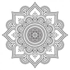 What is a mandala in Hinduism? What is the meaning of the mandala symbol in Hinduism? What is the spiritual significance of mandalas? Mandalas Painting, Mandalas Drawing, Mandala Coloring Pages, Coloring Book Pages, Dot Painting, Mandalas To Color, Zentangles, Silk Painting, Coloring Sheets