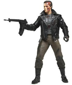 T-800 Tanker Truck Pursuit Figure from Terminator. It is made by NECA and is approximately 18 cm (7.1 in) high  http://terminator.minimodelfilmstuff.co.uk/terminator-collectable/terminator-t-800-tanker-truck-pursuit-figure-neca-42183 Comes with alternate head and two gun accessories....