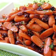 There's not a speck of these ever left in the bowl! Perfect Glazed Carrots & Cranberries