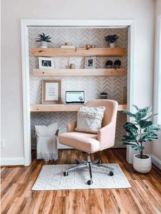 Top 5 Home Design Trends to Admire and Adore in 2021 Home Office Closet, Closet Desk, Tiny Office, Guest Room Office, Office Nook, Home Office Space, Home Office Design, Home Office Decor, Home Decor