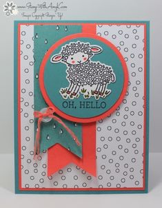 I used the Stampin' Up! Easter Lamb and Honeycomb Happiness stamp sets to create my card for the Sunday Stamps sketch challenge this week. Here is the sketch for Sunday Stamps SSC120. Be sure to stop