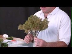 christmas village ideas ▶ Making Sage Brush Trees - YouTube