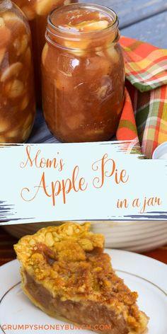 Homemade Apple Pies, Apple Pie Recipes, Apple Desserts, Köstliche Desserts, Delicious Desserts, Dessert Recipes, Recipe For Canning Apple Pie Filling, Apple Pie Recipe Easy, Recipe For Mom
