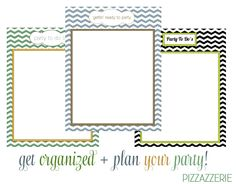 Free PARTY TO-DO List Printables! I absolutely adore these because I'm all about To-Do Lists!