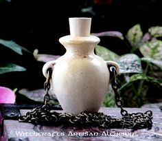 Old European Master Crafted Magical Arts™ Magick, Witchcraft, Bottle Necklace, Pendant Necklace, Magical Jewelry, Vase, Oil Bottle, Clay Beads, Artisan