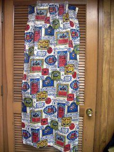 Vintage Curtains Vintage Drapes Pleated Drapes Fiberglass