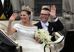Crown Princess Victoria of Sweden at her marriage to Daniel Westling in 2010.  As lovely as Catherine's wedding dress was, I still like this one better.