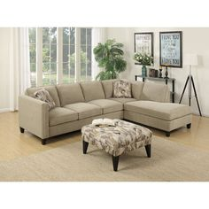 Richmond Bi-Sectional Orientation: Left Facing, Color: Cabana Hemp ...