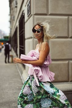Charlotte Groeneveld in Rochas and Dolce & Gabbana for Farfetch