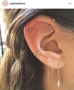 best Ideas for piercing ear ideas peircings best . - Schmuck - best Ideas for piercing ear ideas peircings best Ideas for piercing - Ear Peircings, Cute Ear Piercings, Ear Piercings Conch, Multiple Ear Piercings, Tongue Piercings, Conch Piercing Jewelry, Conch Earring, Body Piercings, Conch Stud