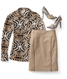 trend: animal print; Remember, you don't want to overdo it, so pair your snake-print piece  with a neutral color to keep the balance. @jcpenney