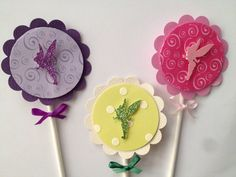 Tinkerbell cupcake toppers by Fancymycupcake on Etsy, $9.00