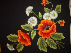 Here's another lovely example of Estonian embroidery. I particularly like the style they used for the leaf work.