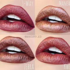 Colourpop Ultra Metallic Lips - / Maneater / Zebra / Kween---I got Maneater and Kween Makeup Goals, Love Makeup, Makeup Inspo, Makeup Inspiration, Makeup Tips, Beauty Makeup, Makeup Art, Metallic Lipstick, Lipstick Colors