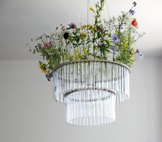 Garden in the Sky: Test Tube Chandeliers from Poland
