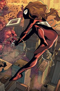 Marvel Dc, Marvel Women, Marvel Heroes, Marvel Universe, Spider Girl, Spider Women, Comic Books Art, Comic Art, All Spiderman