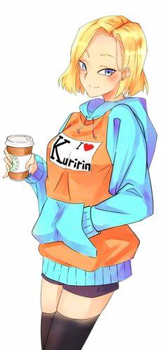 Android N 18, Android 18 And Krillin, Krillin And 18, Manga Anime, Manga Art, Character Art, Character Design, Dragon Z, Ball Drawing